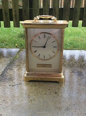 "VINTAGE RAPPORT LONDON GIANT CARRIAGE CLOCK-2.5Kg OF SOLID BRASS ! 8.5"" X 6.5"""
