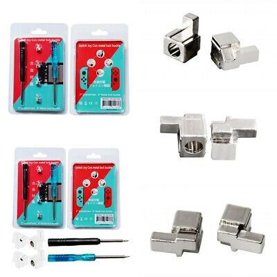 Replacement 4pcs Metal Lock Buckles-Latch for Switch Joy Con w/ 2 Screwdrivers