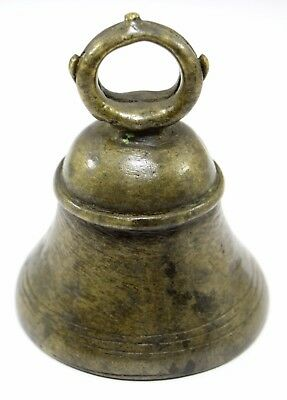 Antique High Aged Brass Heavy metal Hand crafted Nice Worship bell. G70-203 AU