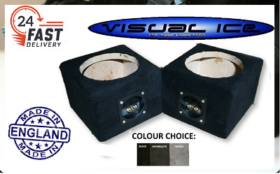 NEW upto 6.5 Speaker pod box mount co axial component van car audio sub PAIRS