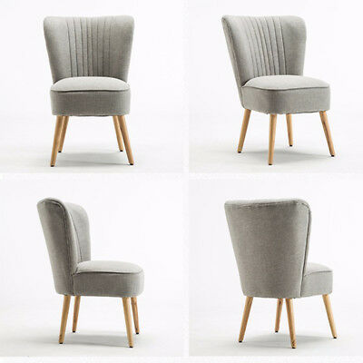 Bedroom Accent Chair Armchair Occasional Upholstered Modern Oyster Stool Home