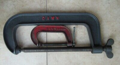 """Vintage dawn G clamps - 4inch & 12inch - 4"""" 12"""""""