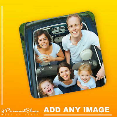 Personalised Photo Coaster Printed Cup Mat MDF Custom Any Image Any Text