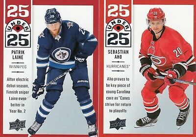 2018-19 UD Series I Under 25 # U25 Lot Of 2 Cards - Laine/Aho