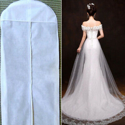Clothes Wedding Dress Dustproof Bag Storage White Gown Garment Cover Accessory