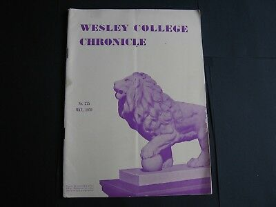 Wesley College Chronicle MAY 1959