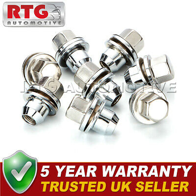 8x Stainless Steel Wheel Nuts + Washers For Range Rover L322 06-12 22mm Hex