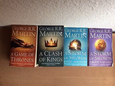 Game of Thrones Books ( 1 - 4 ) George RR Martin