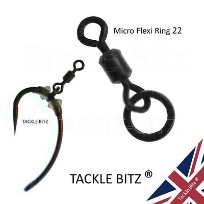 Size 22 Micro Hook Flexi Ring Swivels For Carp Fishing Tackle Ronnie Rigs