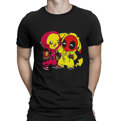 912c56148 Deadpool And Pikachu Funny T-Shirt, Pokemon Anime Marvel Tee, Men's All  Sizes