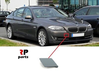 Gray Rear Tow Eye Cover Compatible with BMW 5-SERIES 2011-2016 Primed Sedan with M Package