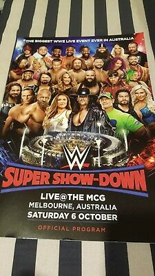 Wwe wrestling Super showdown Program Australia