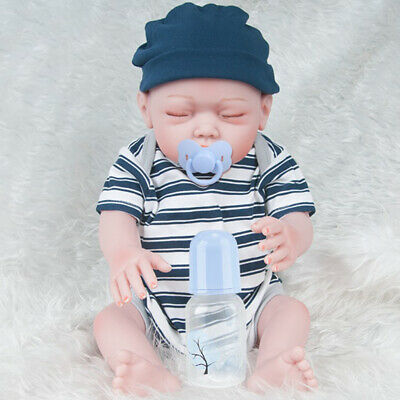 20inch Reborn Doll Silicone Body Reborn Infant Doll Realistic Toddler Models
