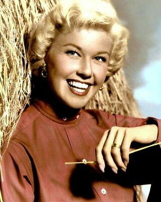 """Doris Day 1957 Singer Actress Hollywood Movie Star 8X10"""" Hand Color Tinted Photo"""
