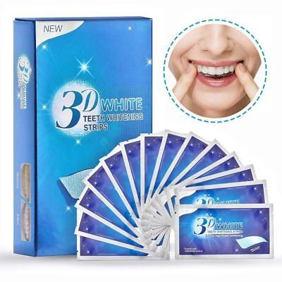 Advanced 3D Teeth Whitening Strips / 14 Pouches - 28 Strips / 2 Week Supply