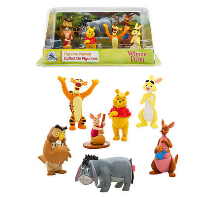 New Official Disney Winnie The Pooh 7 Figurine Playset DAMAGED BOX PRODUCT FINE