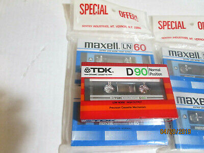 2 X Maxell Ln 60 Audio Tape Cassettes Type 1 Sealed