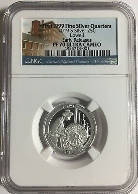 2019-S NGC PF70 LOWELL SILVER PROOF QUARTER SET ATB .25 EARLY RELEASES 70 #Sa1