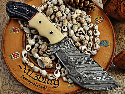 Custom made hand crafted Moqen,s knife Damascus steel Beautiful Tracker