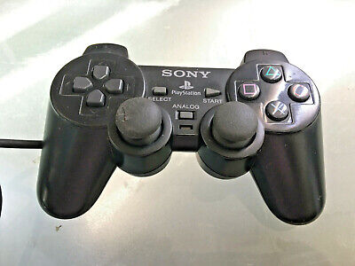 Official OEM Sony Playstation 2 PS2 Dual Shock Controller Black SCPH-10010