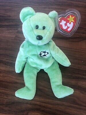 c5a82faabf3 KICKS THE SOCCER Bear - TY Beanie Baby   Mint Condition   -  4.95 ...