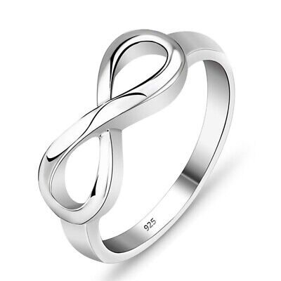 Infinity Love Silver Ring Endless Love Symbol Infinity Wedding Bands Jewelry #9