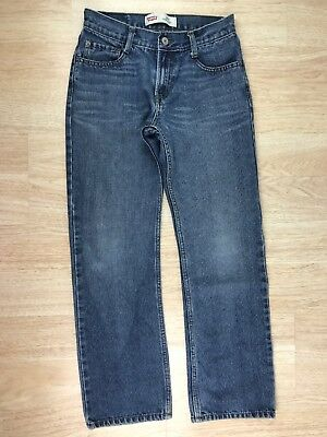 Levis Boys Size 16 Regular 514 Medium Wash Blue Straight Leg Relaxed Denim Jeans