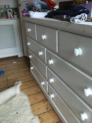 Beauriful Solid Oak white Chest of Drawers For Bedroom