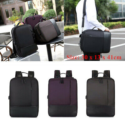 1x Nylon Premium Anti-theft Laptop Backpack with USB Port for Business Traveling