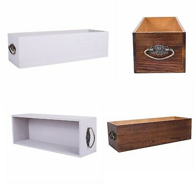 Wooden Long Storage Box Wooden Crates Retail Display Gift Hamper Accessory Orga