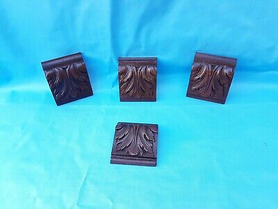 Set of 4 Corbels / pillars / consoles / Brackets antique french oak 19 th