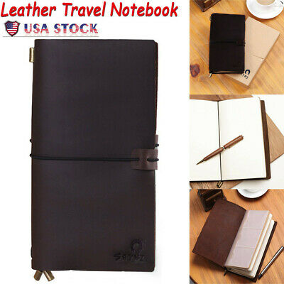 Genuine Leather Journal Travel Notebook Brown Refillable Classical Vintage Gifts