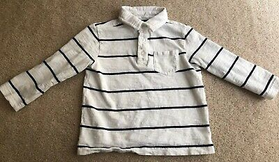 Crown And Ivy Toddler Boy Blue And White Striped LS Polo Size 2T