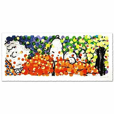 "Tom Everhart ""Pillow Talk"" Signed Limited Edition Peanuts Lithograph; COA"