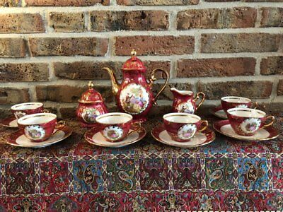 Vintage Limoges Coffee Set gold plated and hand made (6 persons)