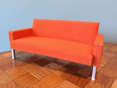 Sofa orange Bodo Hennig  70er  Puppenhaus Puppenstube 1:12 dollhouse couch