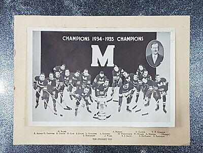 Vintage sport photo hockey • The Stanley Cup • Champions 1934-1935