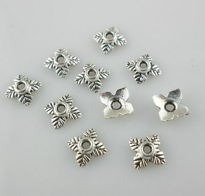120pcs Tibetan Silver Small Flowers End Bead Caps DIY Jewelry Findings 6mm