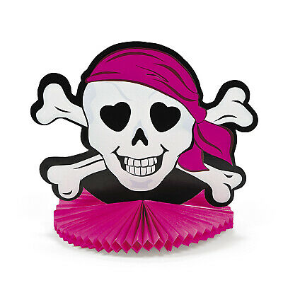 Pirate Party Deluxe Honeycomb Centrepiece Table Decoration 33cm