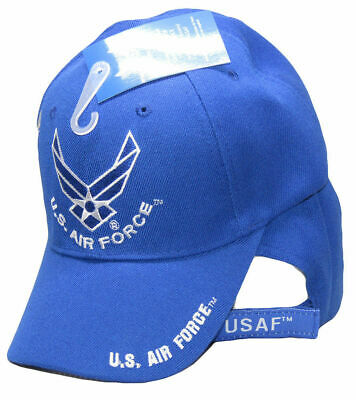 ba76956eb90 U.S. Air Force Wings Hat Royal Blue US Air Force on Bill Shadow Embroidered  Cap
