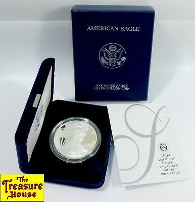 2004-W American Eagle S$1 ONE DOLLAR 1 OZ .999 Fine Silver Proof Coin OGP & COA!
