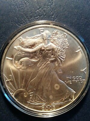 2003 American Silver Eagle 1 Troy OZ. .999Pure Fine One Dollar Coin B