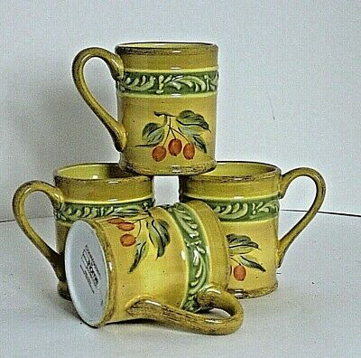 Mugs 4pcs Marsala Chris Madden Home Collection for JC Penney Tuscan Vintage
