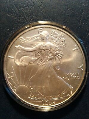 2004 American Silver eagle 1 OZ. .999 Pure Fine One Dollar Coin B