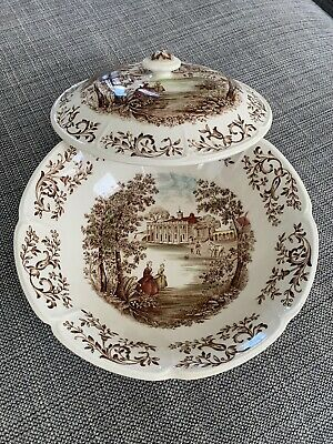 """Johnson Brothers MOUNT VERNON 8 1/4"""" Covered Round Serving Bowl Potomac View"""
