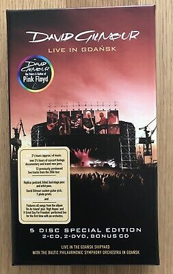 David Gilmour (Pink Floyd) Live In Gdansk.Limited Edition 5cd Boxed Set.Like New