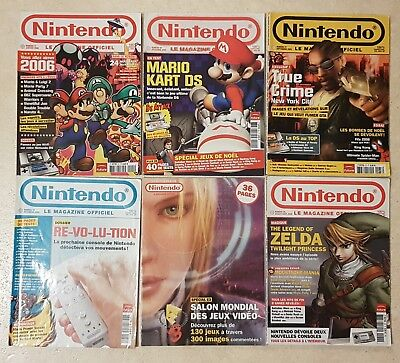 Lot Magazines Nintendo Officiel - 36 37 39 40 41 - Zelda Mario Wii DS 2005/2006
