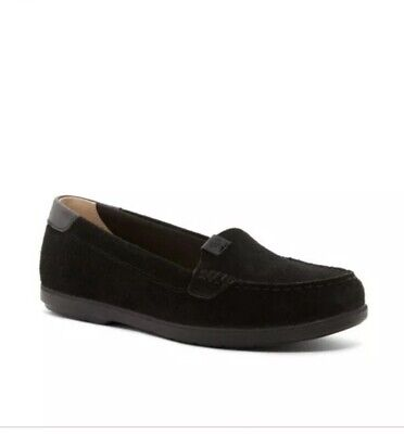 e39f1a7e2ce Sperry Women Coil Mia Suede Black Slip-On Flat Boat Loafers Shoes 9.5  STS99651