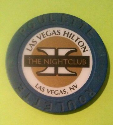 Las Vegas Hilton The Nightclub H Logo Roulette Chip Great For Any Collection!