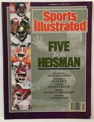 FIVE FOR THE HEISMAN November 27, 1989 Sports Illustrated Magazine  -  NO LABEL
